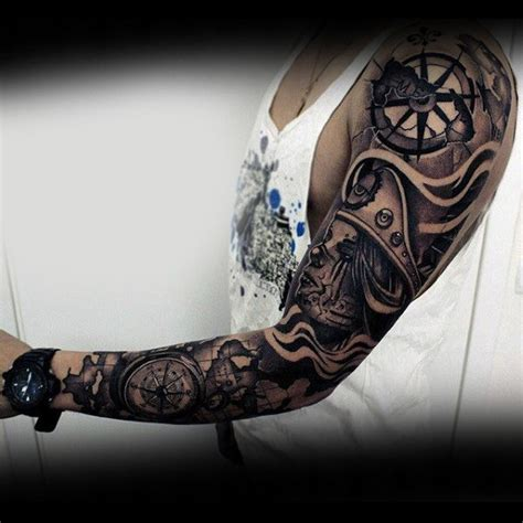 nautical tattoos 75 tattoos for masculine ink design ideas