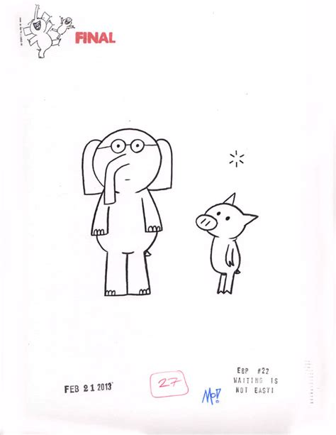 How To Draw Elephant And Piggie