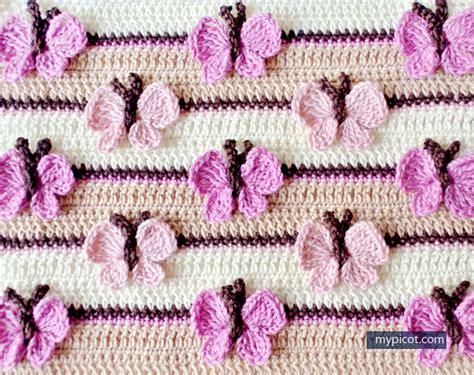 Crochet Home Decor Patterns Free butterfly baby blanket crochet free pattern stylesidea