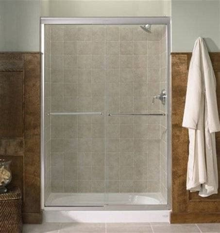 What Is A Bypass Shower Door Kohler Co R702206 Fluence Bypass Shower Door Lowe S Canada