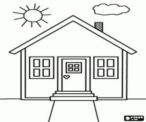 Desenho De Casas Desenho De Fachada Principal De Uma Pequena Casa Para Colorir
