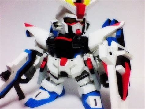 Sd Gundam Papercraft - sd freedom gundam papercraft paperkraft net free