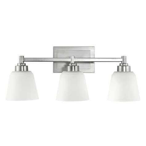 Kichler Bathroom Light With White Glass In Brushed Nickel Kichler Bathroom Lighting