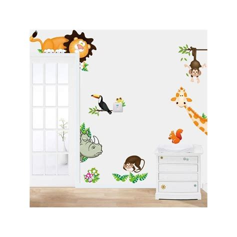jungle wall stickers jungle zoo pvc wall stickers lazaara