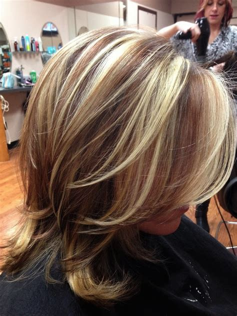 medium length hair style low lights love thy stylist splashlights new color trend