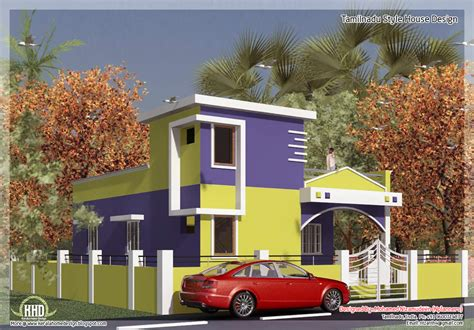 home design in tamilnadu style 875 sq feet 2 bedroom single floor home design kerala