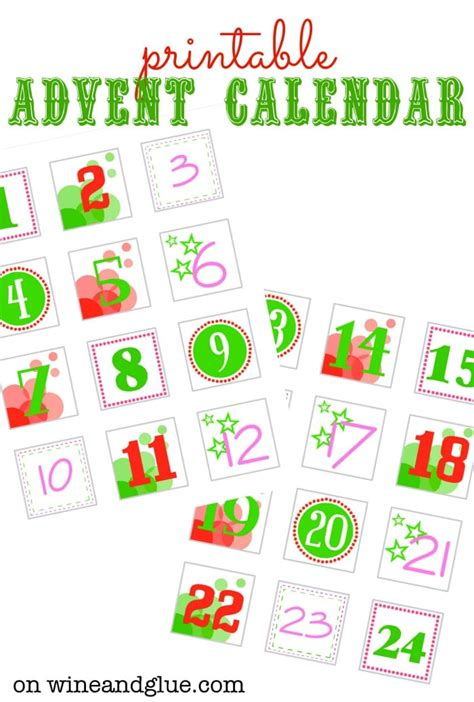Diy Advent Calendar Wine Glue Make Your Own Advent Calendar Template