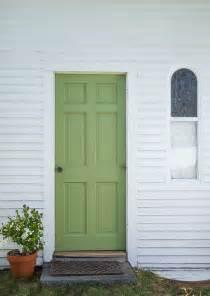 Green Doors A Green Door With Farrow Paint Remodelista