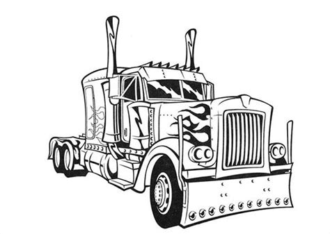 Semi Coloring Pages by Transformer S Optimus Prime Semi Truck Coloring Page Netart