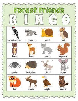 printable animal bingo games printable forest animals bingo game by drag drop learning