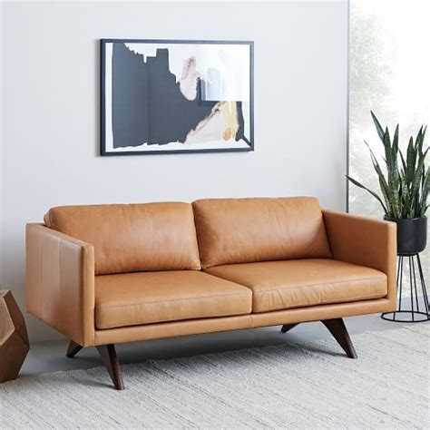 west elm leather sofa reviews sofa brooklyn one get free on sofas at freedom leather tan