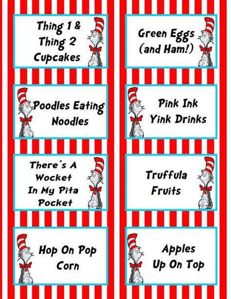 printable menu tags 7 best images of dr seuss printable labels for food