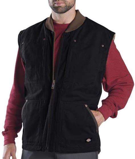 working vest dickies black sanded sherpa lined winter vest dickies work vest