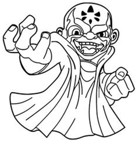 trap team coloring of kaos kaos coloring page food search skylanders and