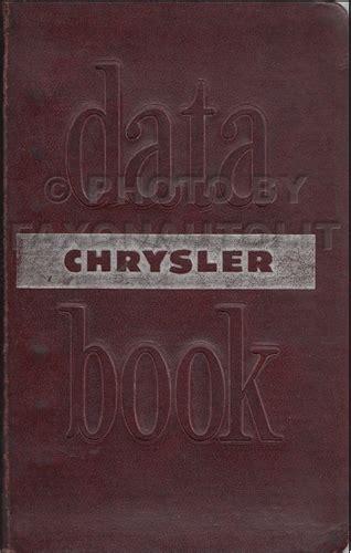 chrysler original parts 1950 mopar parts book original