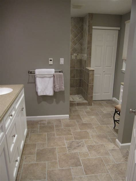 bathroom tile floor designs i love this wall color for bathrooms bathrooms