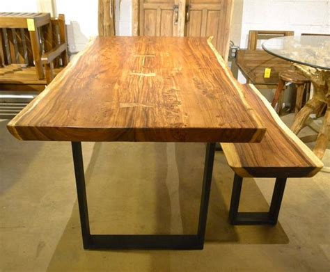 natural  edge wood slab dining table  home furniture