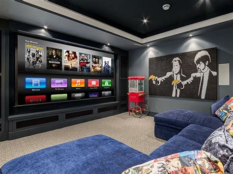 winning home theater sets mood with sensors and lighting