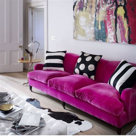 hot pink loveseat 10 hot pink looks