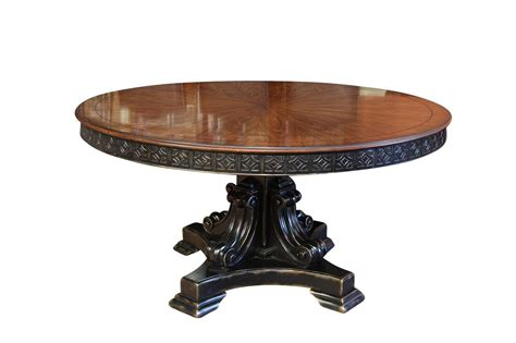 Oval Back Dining Room Chairs by 60 Inch Round Walnut Pedestal Dining Table W Black And Gold