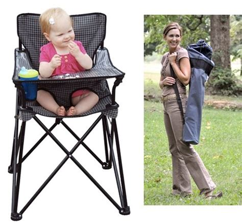 Portable Folding High Chair - ciao baby practical portable high chair solution for busy