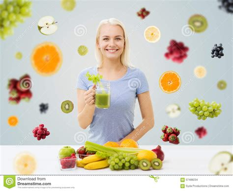 Detox Person by Juice Royalty Free Stock Photography