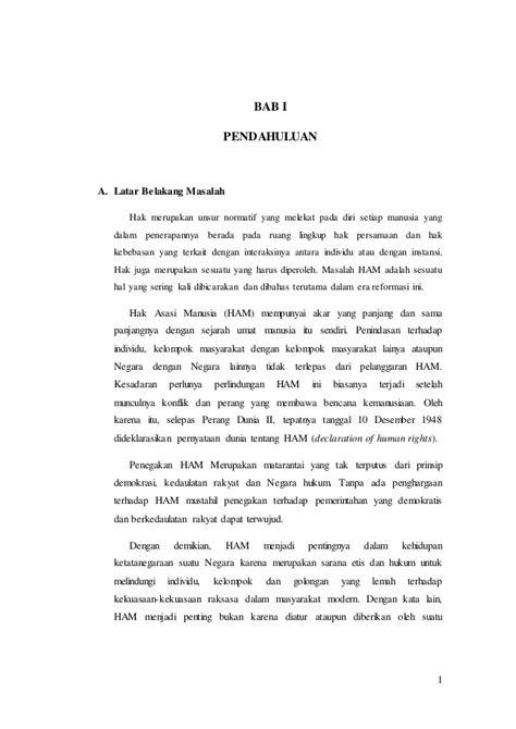 format makalah bab 2 bab isi makalah quot hak asasi manusia quot mata kuliah pkn