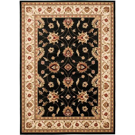 Area Rugs 8 X 12 Safavieh Lyndhurst Black Ivory 8 Ft 9 In X 12 Ft Area Rug Lnh553 9012 9 The Home Depot