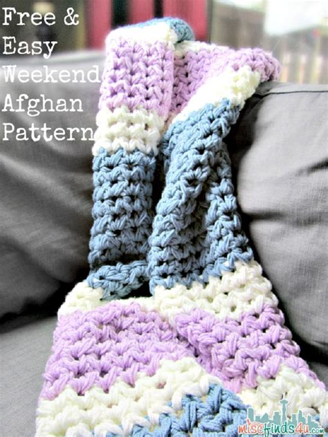 crochet pattern quick afghan easy weekend crochet afghan patterns images