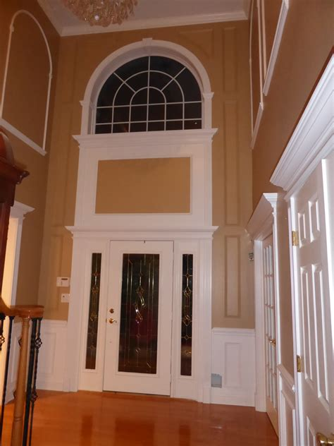 foyer window ideas wainscoting wainscoting installations by crown molding