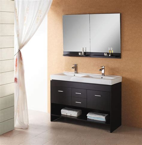 Two Vanities In Bathroom 47 Quot Virtu Gloria Md 423 Es Bathroom Vanity Bathroom Vanities Bath Kitchen And Beyond