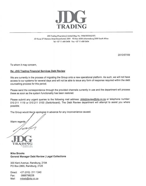 Credit Expert Cancellation Letter Debt Review