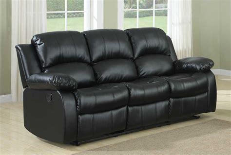 bonded leather recliner sofa homelegance cranley reclining sofa set black bonded