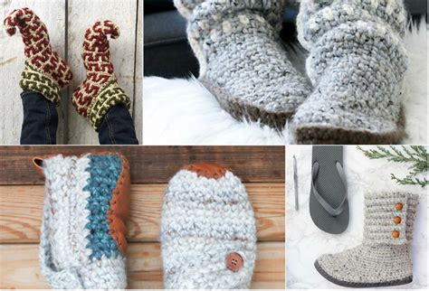 winter crochet wonderful crochet projects to warm you and your loved ones books 9 crochet slippers patterns that will warm your in winter