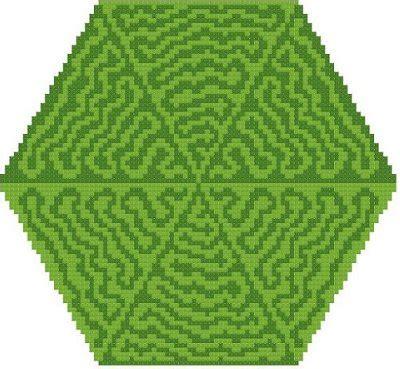 triangle pattern moles jungle trails by susan saltzgiver designs mushrooms moles