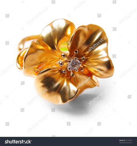 Gold Ring Pic by Gold Ring White Stock Photo 47179477