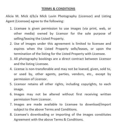 photography license agreement template mick luvin photography real estate license agreement