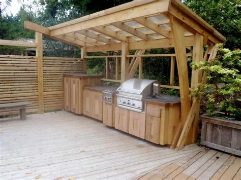 outdoor kitchen with shelter bbq pizza pinterest