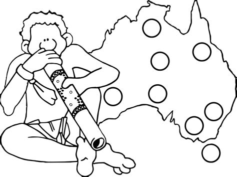 australian map coloring page australia coloring pages for kids aboriginal coloring