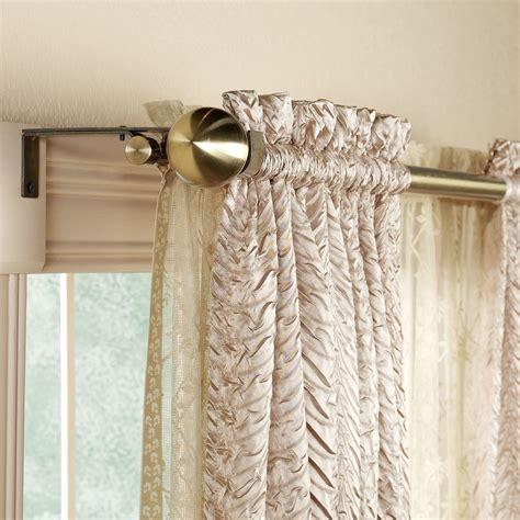 Decorative double curtain rod 28 quot to 86 quot