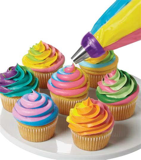 colorful cupcakes colorful swirls cupcake joann jo