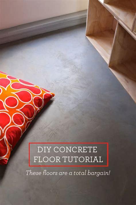 DIY Concrete Floor   Cheap Home DIYs   Design Mom