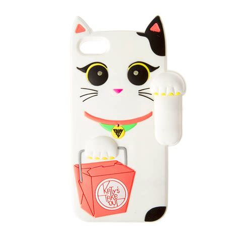 Katy Perry Iphone 5c katy perry light up white waving cat cover for iphone 5