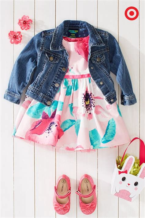 Dress Cool Denim Flower pair a cool denim jacket with a sweet floral patterned