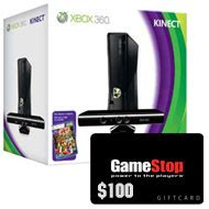 Xbox Live Gift Card Gamestop - xbox 360 w kinect and 100 gift card 299 99 with free