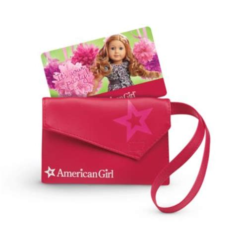 American Girl Gift Cards In Stores - gift card wristlet giftcards american girl
