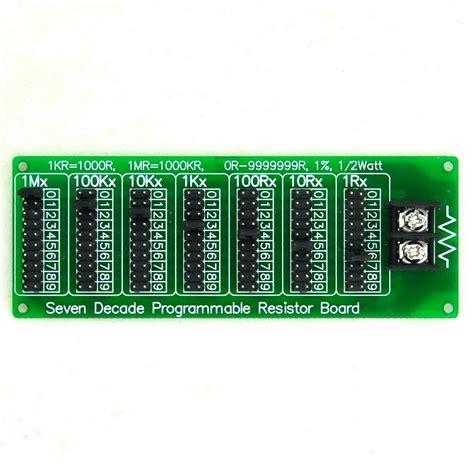 resistor decade board 1r 9999999r seven decade programmable resistor board step 1r 1 1 2 watt in resistors from