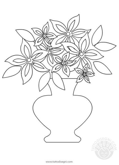 vaso di fiori da colorare primavera tuttodisegni