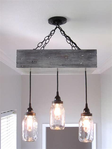 Handmade Ceiling Lights - rustic jar chandelier rustic chandelier farmhouse