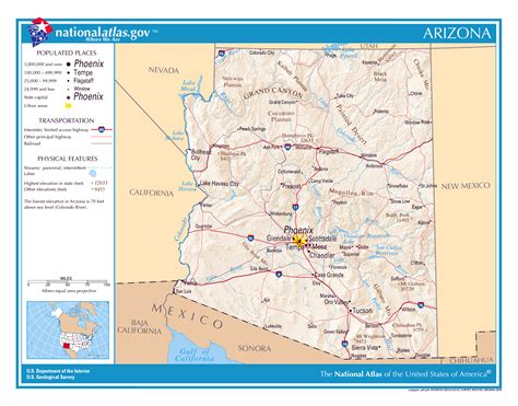 arizona state in usa map large detailed map of arizona state arizona state usa